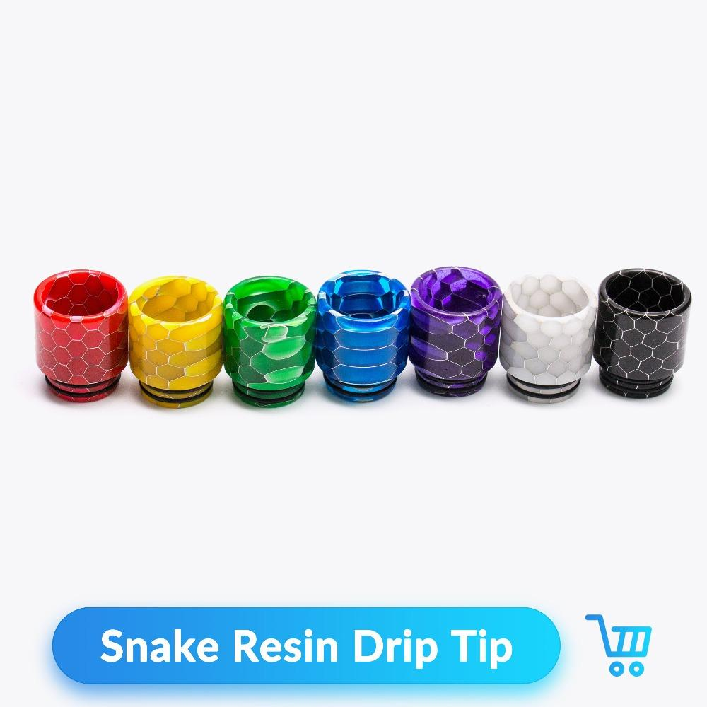 810 snake drip tip resin Wide Bore Mouthpiece for e cigarette starter kit dry herb vaporizer mod vape pen accessories