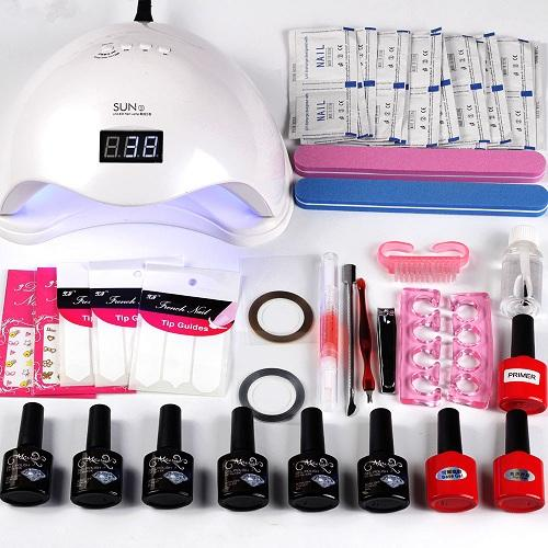 Nail Art Set Uv Led Lamp Dryer 8ml Gel Nail Polish Set Kit Nail