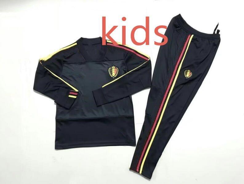 2019 Kids Belgium Tracksuit Long Sleeves 2018 2019 Belgium Training Suit  Survetement 18 19 Sweater Training Suit Boys Chandal Set Sportswear From  Hot hot 0123cc273