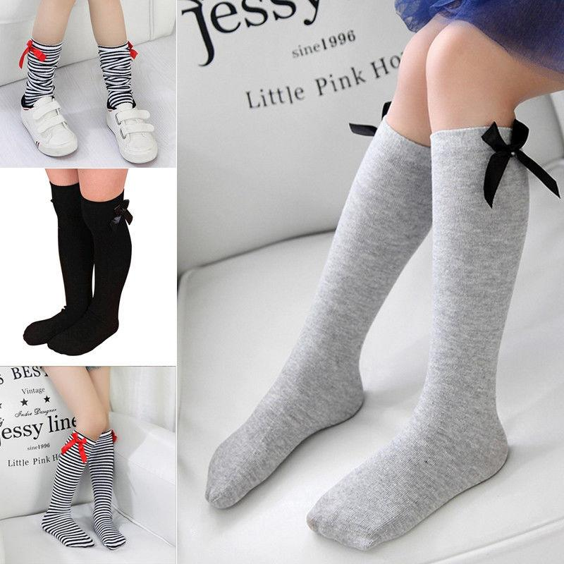 2fd01fa59 2019 Baby Girl Toddler Kids Knee High Length Cotton Socks Bow Lace Frill 1  8Years Hot From Kangshifuwat