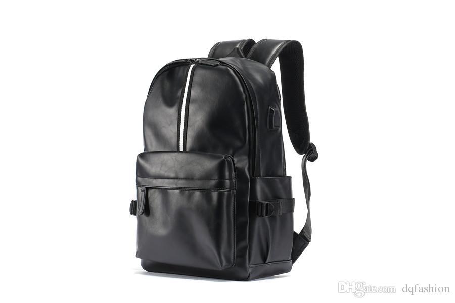 Nueva llegada de viajes de negocios de cuero de la PU de los hombres de la escuela Satchel bolsa de hombro mochila venta mundial envío gratis