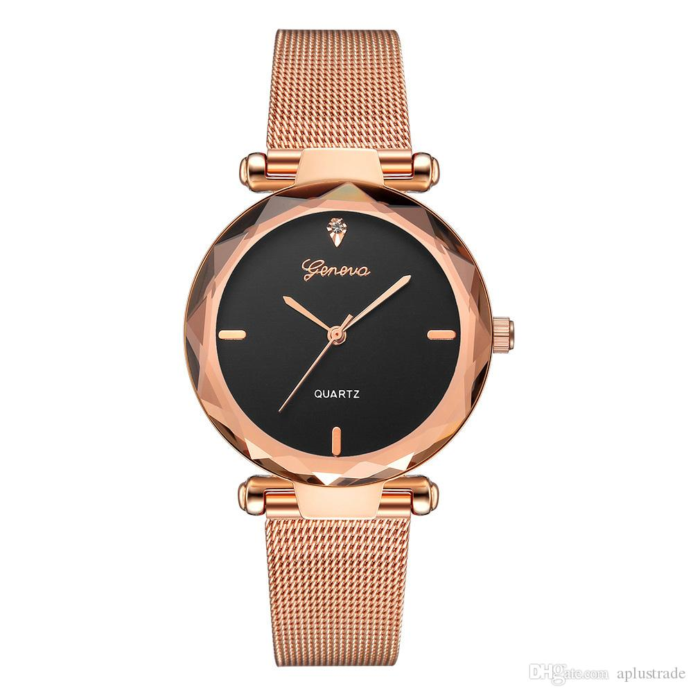 b544fcb6d Luxury Womens Geneva Watches With Milanese Strap Quartz Movement Mesh Watch  Band Fashion Watches For Lady Vintage Watches Automatic Watch From  Aplustrade, ...