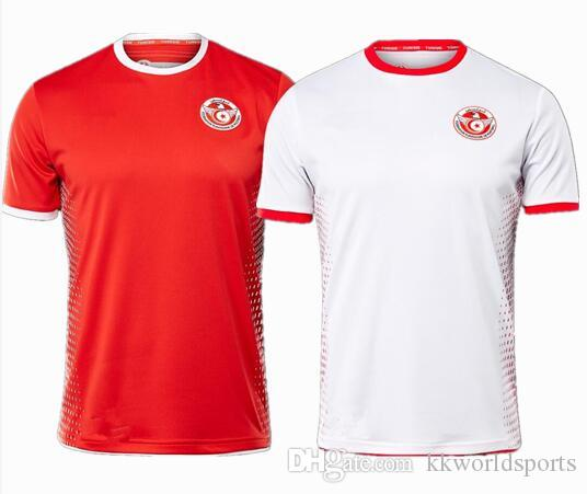 f427e668f 2019 2018 Tunisia Soccer Jersey World Cup Home Away 18 19 Tunisia Wahbi  Khazri Khaoui Sliti Football Shirts Customize Top Thanland Quality From ...