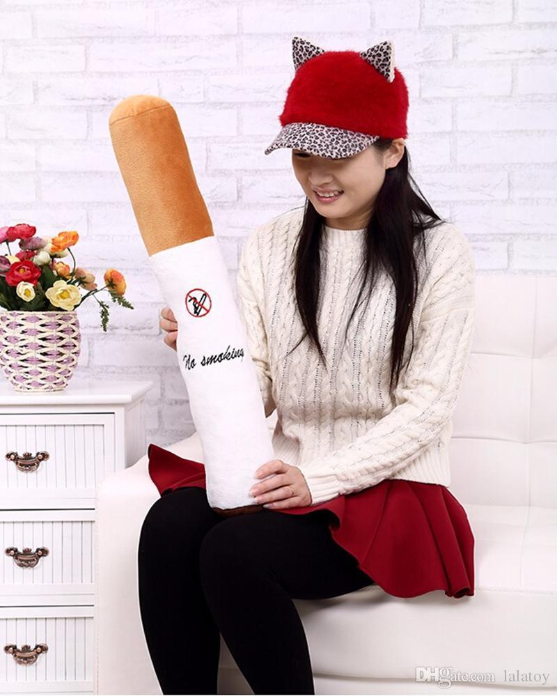 50cm Smoking cylindrical sleeping Cigarette plush pillow for Boyfriend birthday gift plush toy Creative deco LA050