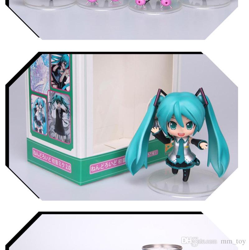 Japan 10 cm Anime Miku Figur Puppe Nette Hatsune Miku PVC Action Figure Nendoroid Sammeln Modell Spielzeug für Geschenke