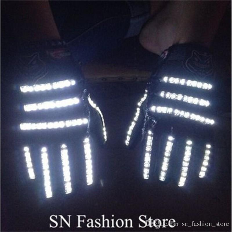 ST001 Unisex LED light gloves ballroom dance led costumes stage costumes dj disco gloves nightclub bar singer wears show performance