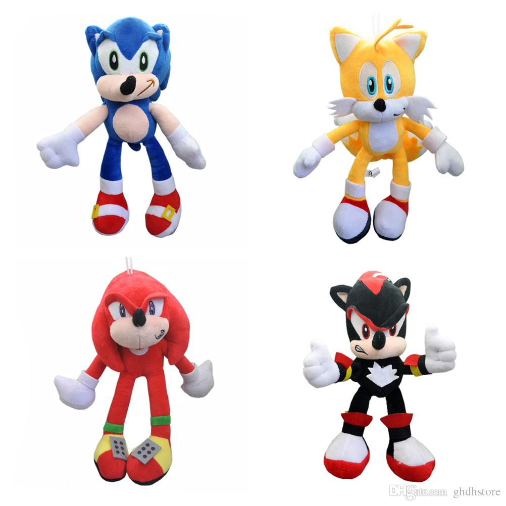 Hot New 4 Styles 10 25cm The Hedgehog Tails Knuckles Shadow Plush