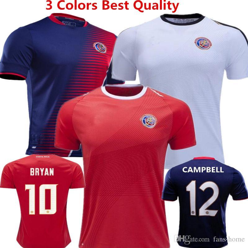 cffda40ed Camisa de futebol Costa Rica camisas de futebol Bryan 2018 Copa do mundo  Rússia Maillot de pé G.gonzález J.venegas Campbell Wallace Início Uniformes