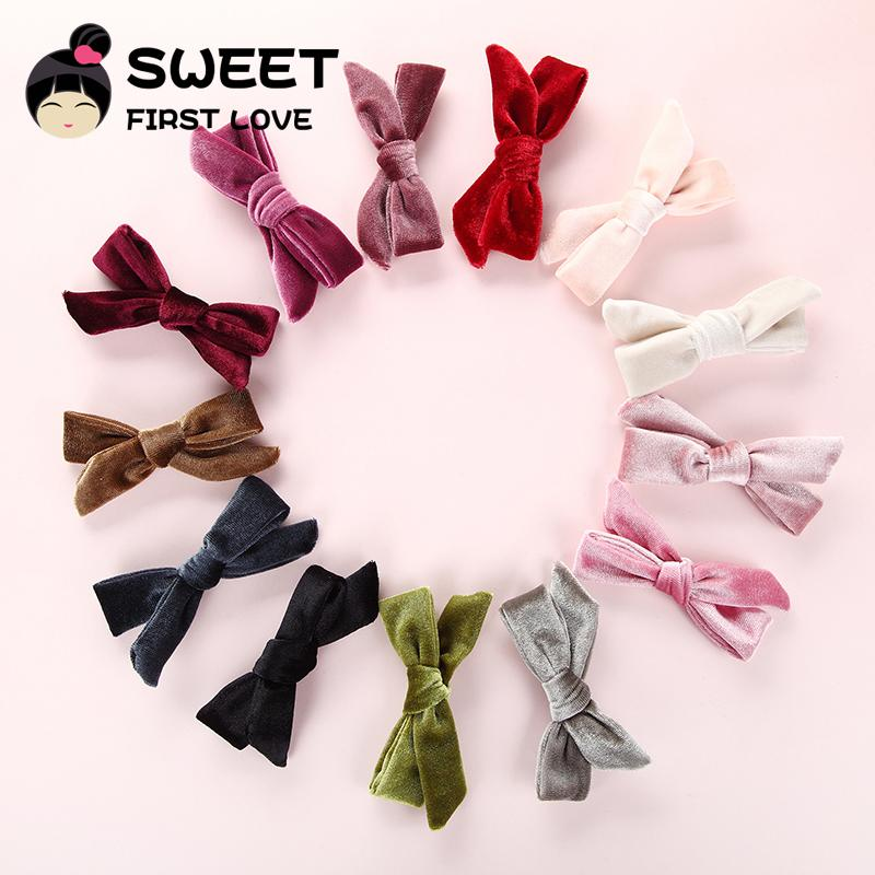 1af5699024a95 New Velvet Bows Hair Clips Fashion Bowknot Hairclips For Women Girls Hair  Accessories Lovely Bow Barrettes Little Girl Hair Accessories Hair  Accessories For ...