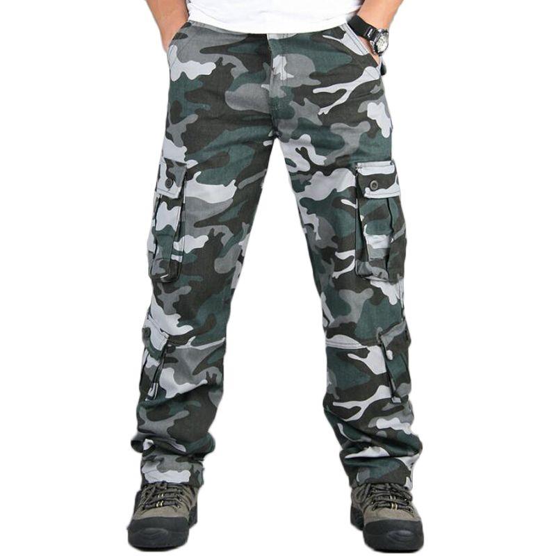 migliori scarpe da ginnastica 3f2b9 4af35 Pantaloni mimetici Pantaloni cargo multi tasche Pantaloni Hip Hop Jogging  Streetwear Pantaloni tuta mimetici Outwear Pantaloni mimetici