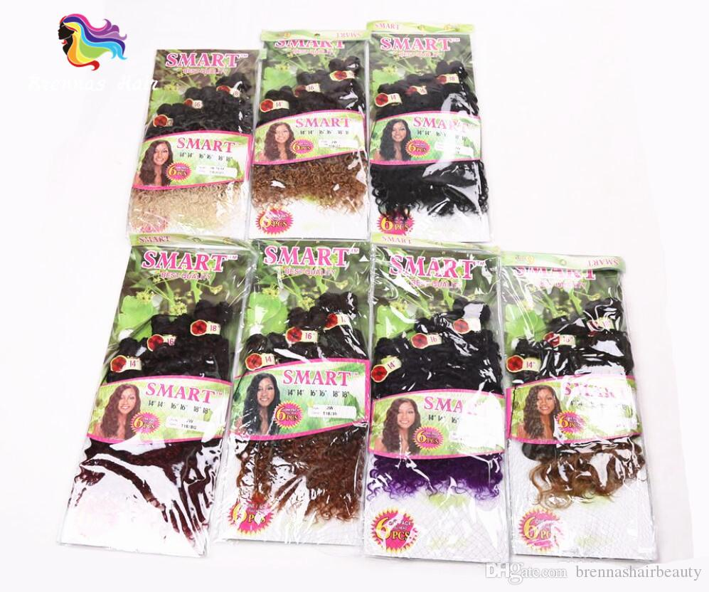 Jerry curly freetress hair for one head ombre brown synthetic hair extension curly crochet purple braiding Hair weaves for african