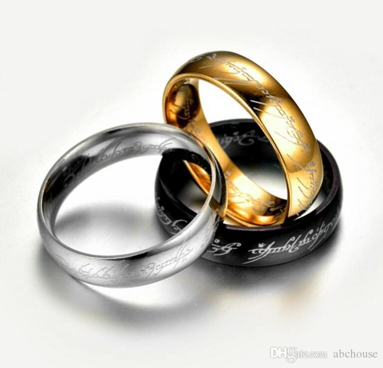 6mm Boyutu 6-13 Altın Kaplama Paslanmaz Çelik Yüzük Band Düğün Nişan Kokteyl Kocası Baba En İyi Hediyeler