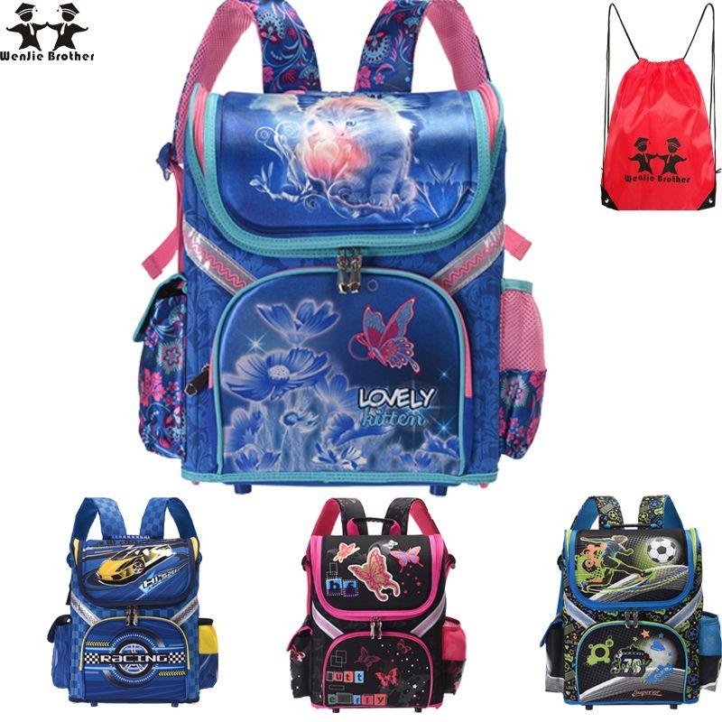 b61410d32dea Wenjie Brother New Kids Cat Butterfly School Bag Backpack EVA Folded Orthopedic  Children Boy And Girls Backpack Mochila Infantil Y18100805 Back Backpack ...