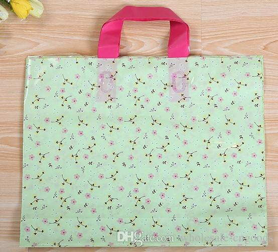 Small fresh green clothing plastic bag gift bag boutique pillow bag 36 * 29cm + bottom 6cm