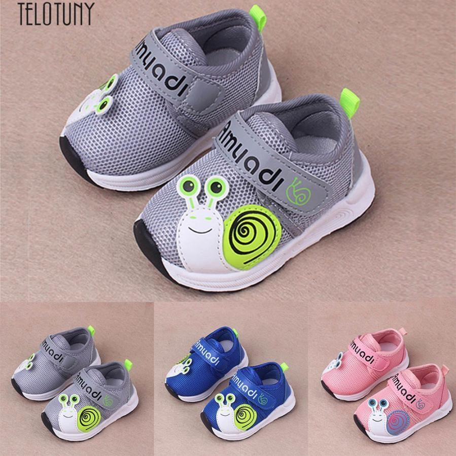Toddler Kids Sport Running Baby Shoes Boys Girls Mesh Soft Sole Shoes Sneakers Lovely and Letter design Casual,Fashion z0725