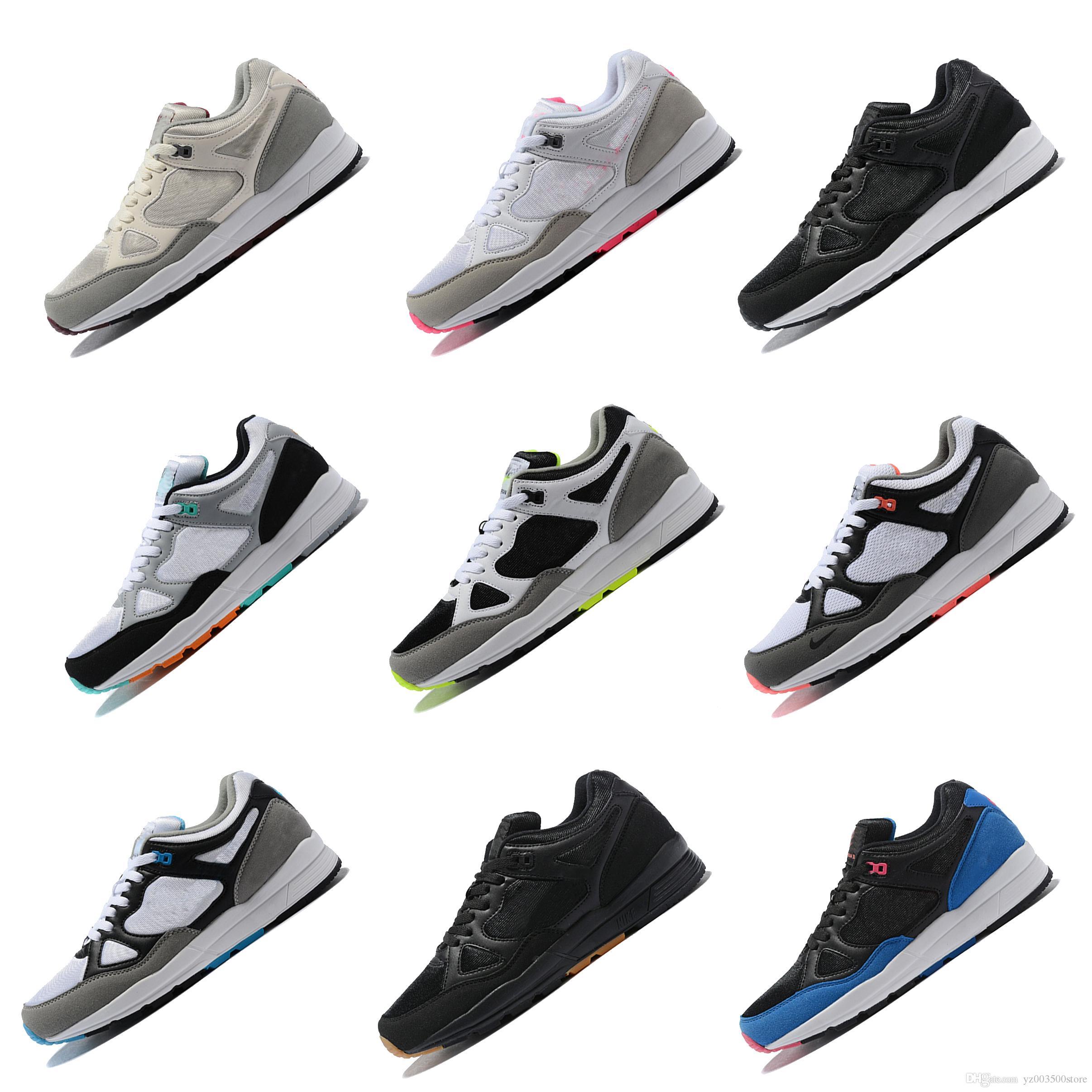 best service 3ea92 e6fb2 Acheter Nike Air Span II Hommes Span II Chaussures De Course, Taille 40 45,  Renforts En Cuir Synthétique Mousse De Semelle, Semelle En Caoutchouc  Chaussures ...