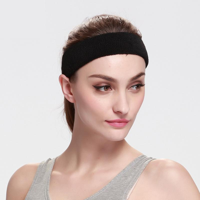 100% Cotton Thick Tower Sports Headband Tennis Badminton Basketball  Sweatband Head Sweat Band Basketball Tennis Yoga Headbands UK 2019 From  Java2013 847d41a4c18