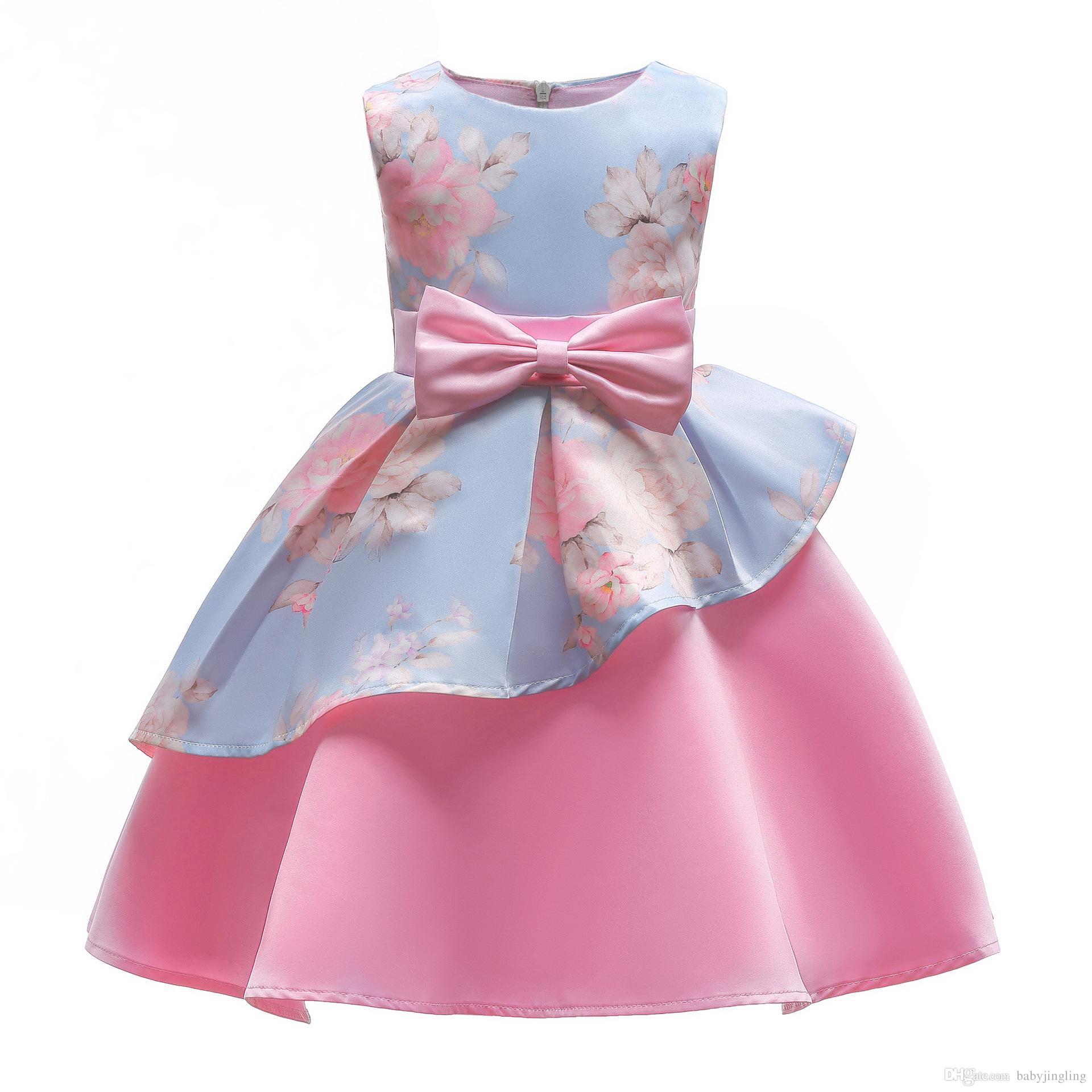 0ae57741f Compre Nuevo Elegante Niñas Princesa Vestido Niños Vestidos De Fiesta Para Niñas  Vestido De Boda Niños Vestido De Navidad Para Niñas Traje 8 10 Año A  12.07  ...