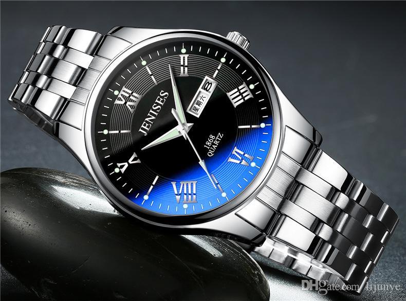 Orologio sportivo al quarzo da uomo di alta qualità da uomo, orologio da polso sportivo di lusso in acciaio inossidabile