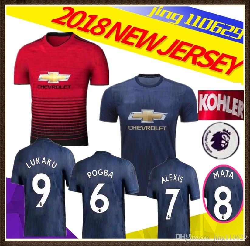 ae5bb4af53f ... discount code for manchester united 18 19 pogba soccer jerseys 2018 2019  football shirt alexis lindelof