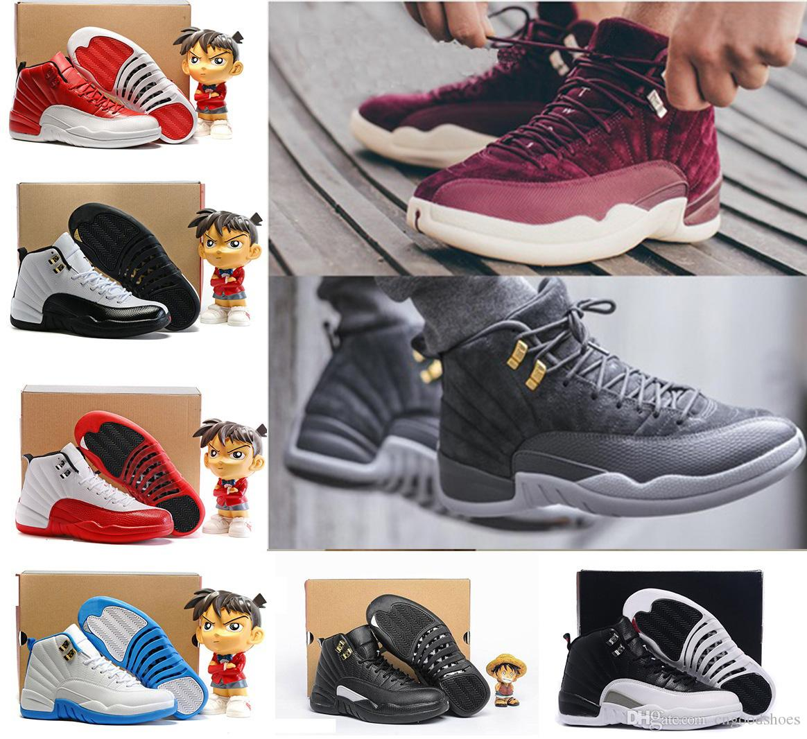 5b519fe605f9ac With Box Mens Basketball Shoes 12 12s White Ovo Gym Red Bordeaux Gamma Blue  Taxi Barons Wolf Grey Atletic Sport Shoes Sneaker 12s Ovo White Basketball  Shoes ...