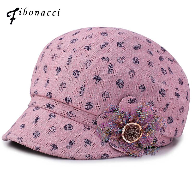 812e1b90a6888 2019 Fibonacci 2018 New Retro Newsboy Cap High Quality Jacquard Floral  Beret Octagonal Hat Cap For Women From Milknew