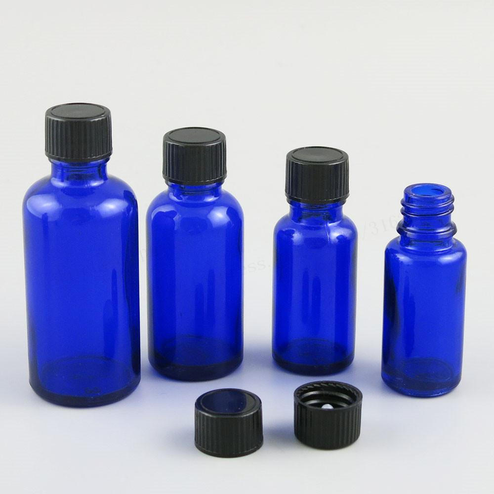 a13cc27946e7 200 x 5ml 10ml 15ml 20ml 30ml 50ml 100ml Cobalt Blue Glass Bottle with  Black Phenolic Cone Cap 1oz Blue Cosmetic Containers