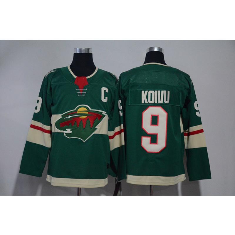 1c5f6c65bfc 2019 Mens Minnesota Wild 100th Anniversary Mikko Koivu Home Away Green  White Hockey Jersey All Players In From Azal001