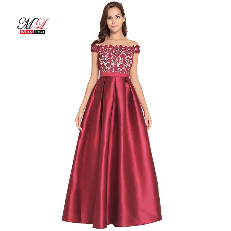 Maylina 2018 New Women Evening Party Sexy Strapless Lace Patchwork Maxi  Dress Backless Zip Elegant Dresses Female Long Vestidos Evening Dresses  With Sleeves ... 160b73a92