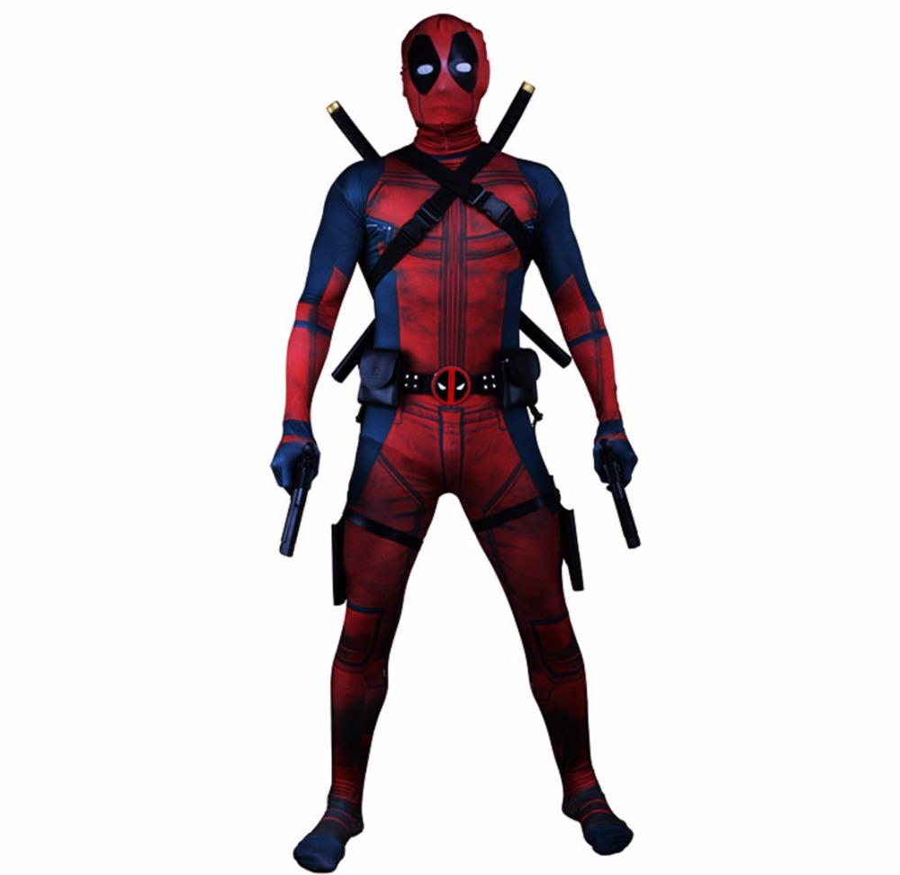 Deadpool 2 Cosplay Wade Wilson Jumpsuit Cosplay Costume Halloween Carnival Costumes