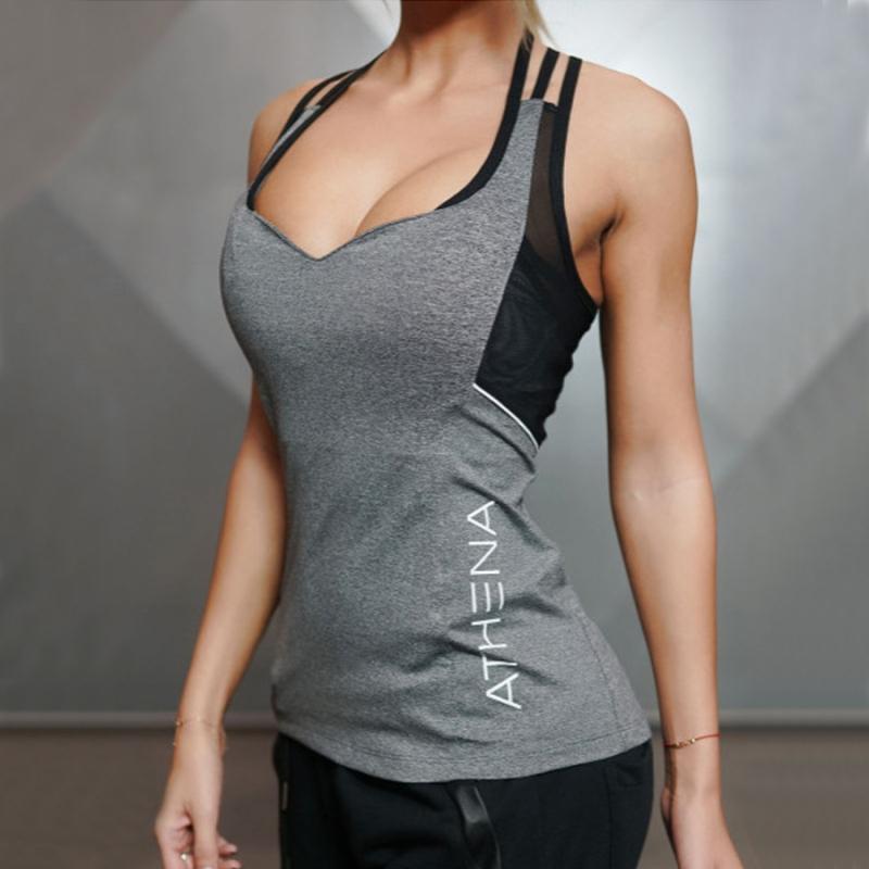 Acheter 2018 Été Sexy Harnais Femmes Débardeurs Femme Sec Rapide Lâche  Fitness Gilet Singlet Pour L exercice Femmes D entraînement T Shirts De   20.65 Du ... 4610e47f023