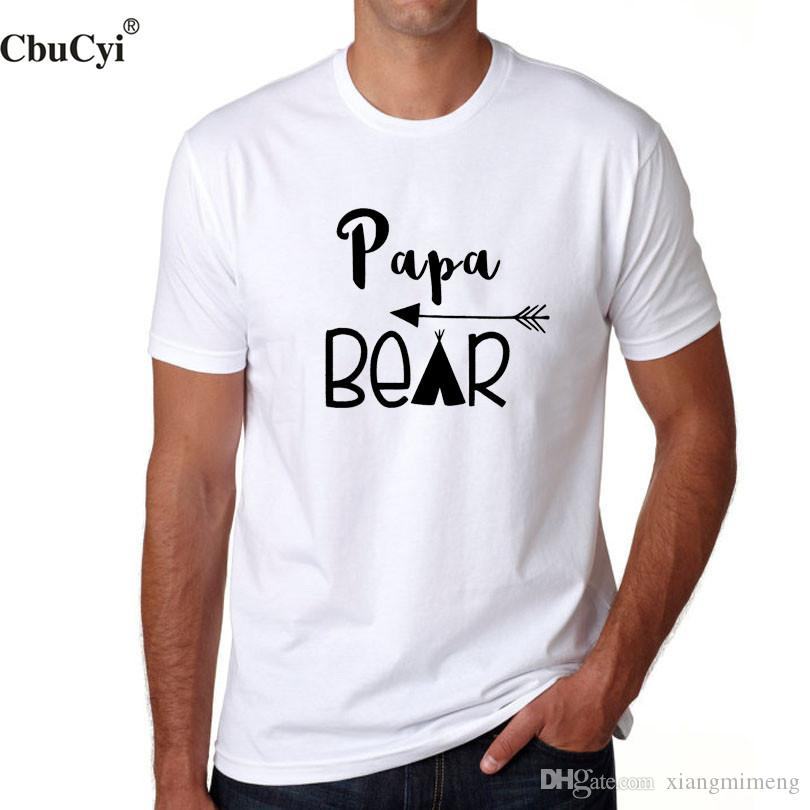 cacedecd4691 Funny Papa Bear T Shirt New Dad T-shirt 2018 New Fashion Father's Day Best  Dad Gift Hipster Slogan Cotton tshirt
