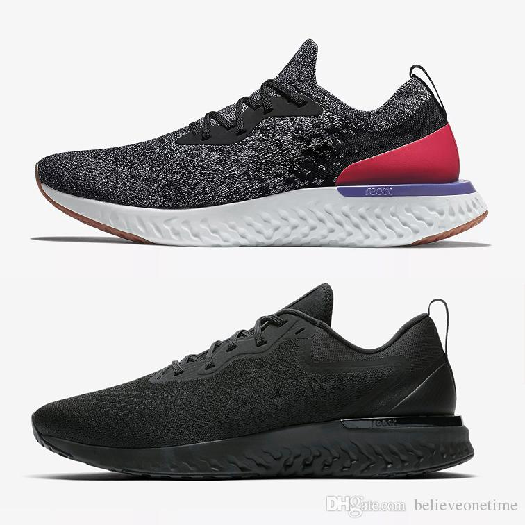 ef5116928674 Best Quality Odyssey React Fly Grey Pink White Knit Men Running Shoes  Triple Black Wolf Grey Blue Noir Blanc Epic Sneakers Size 36 45 Kids  Running Shoes ...