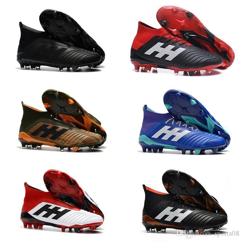 1c5d1cf83 Predator 18+ 18.1 FG Kids Soccer Cleats Predator 18 Boys Soccer Shoes  Chaussures De Football Boots Mens Womens High Top Outdoor Soccer Boots  Predator 18 FG ...