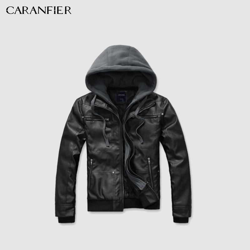 c744cbac3d2c 2019 Mens Leather Jackets Winter Warm Coats Male Turn Down Collar Hooded  Faux Outerwear Motorcycle Biker Jacket Windproof From Xinpiao, $60.14 |  DHgate.Com