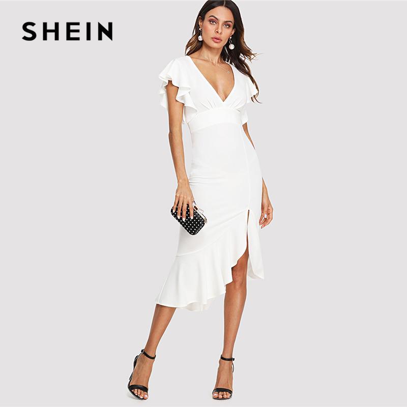 Großhandel 20187 Shein Weiß Elegant Party Schmetterling Schulter ...