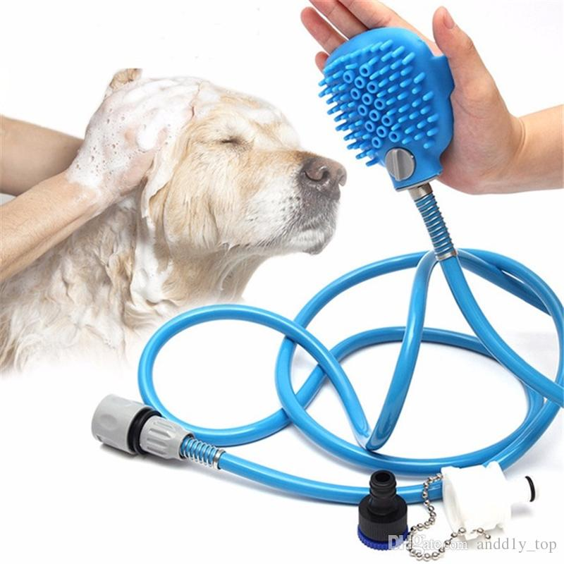 2018 Pet Bath Shower Water Sprayer Pets Supplies Bathing Cleaner ...