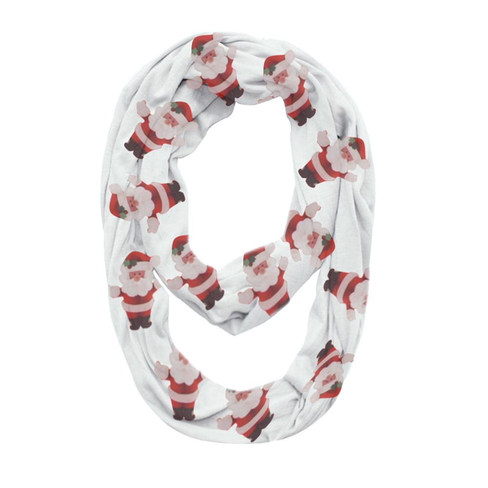 2018 New Convertible Infinity Scarf Women Christmas Print Pocket Zipper Pocket Scarves winter warm Shawl Bib scarves Xmas Gift