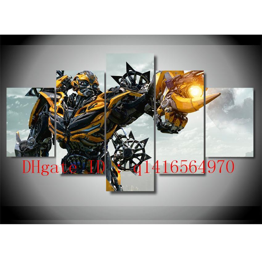 Compre Bumblebee Transformers El, 5 Piezas Impresiones En Lienzo ...