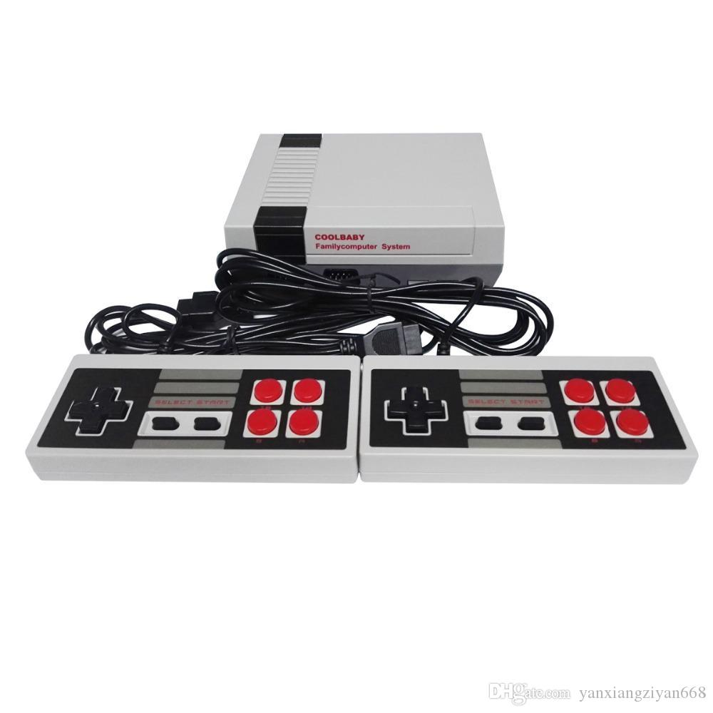 New Arrival MINI Game Console TV Vedio Family Game Players for Child and Adult Suppoer Nes Games With Box Via DHL ZY-NES-1