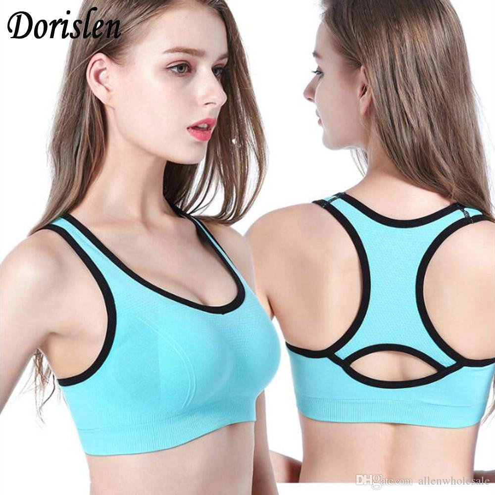 6f404adb4d038 2019 Hot Wireless Back Hollow Workout Bra Fitness Padded Underwear  Shockproof Stretch Tops Vest Plus Size For Women From Allenwholesale