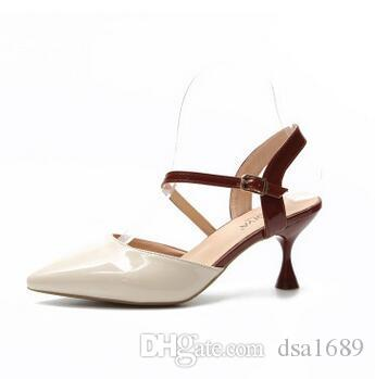 ebf6ded3d500a7 Women Sandals Pumps Luxury Designer Heels Sexy Dress Party Patent ...