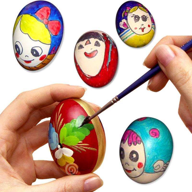 Satın Al Diy Temizle Boyama Ahşap Yumurta Paskalya Boyama Yumurta