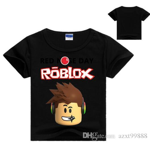 3563a32b1 Children's Day Kids Boys T-shirt Girls Tops Tees Cartoon five nights at  freddy's Tshirt Kids Clothes ROBLOX RED NOSE Day T Shirt