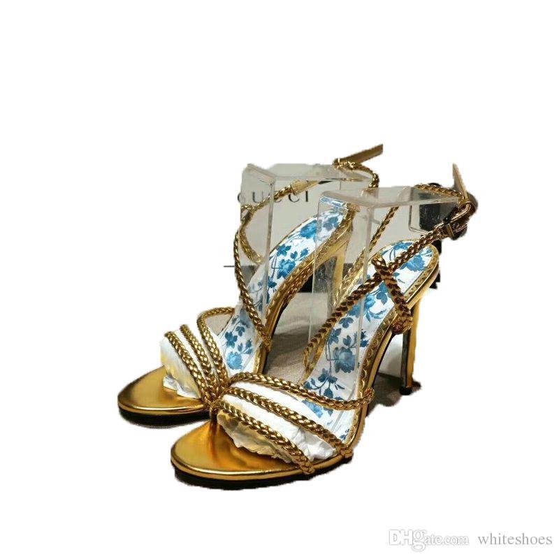 Talón Mujer Gladiador Zapatos De Sandalias Diseñador Alto Oveja Tacón Piel Lujo Flores kZuXiOP