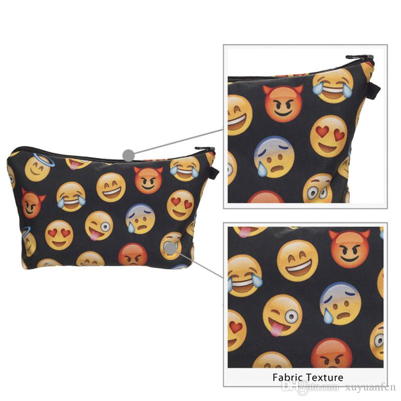 3D Printed smiling face Cosmetic Bags for Travelling Storage Women's Travel Storage Fashion Cute for gift Christmas