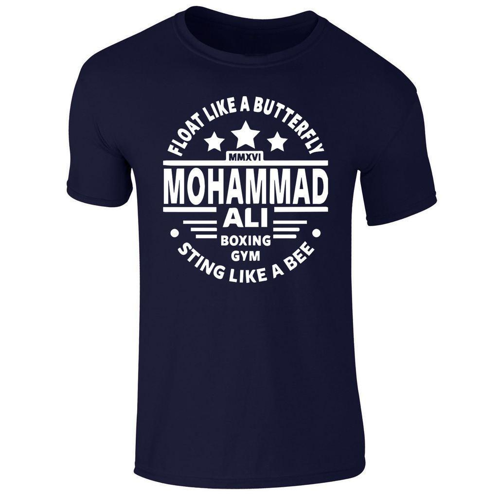 Nova Mens Boxe Lenda Muhammad Ali Heavyweight Ginásio T Shirt Top Pequeno-XXL