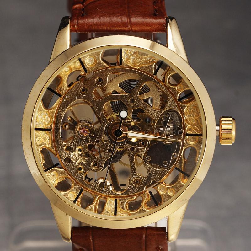 4eb7153dfb6 Compre SEWOR Marca Esqueleto Relógio Mecânico Homens De Luxo Dos Homens  Vestido Reloj Hombre Esporte Ocasional Relogio Masculino Transparente Dial  Relógio ...