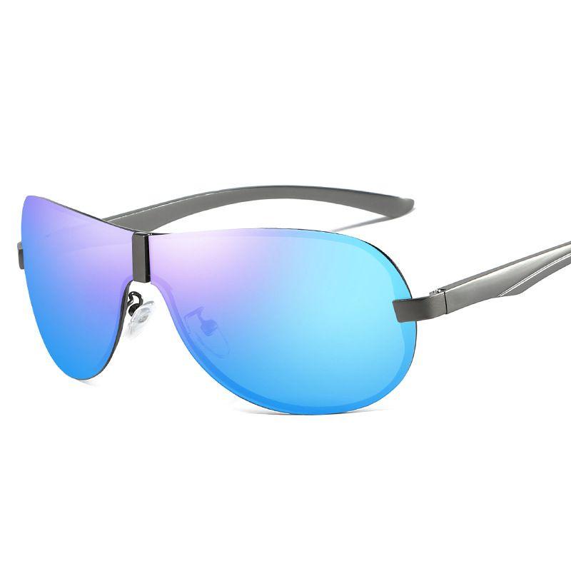 f74c350f0b3e3 Compre Homens Polarizados Óculos De Sol Da Moda Designer De Revestimento De  Revestimento Espelho Óculos De Sol Uv400 Tac Óculos Masculino Óculos De Sol  ...
