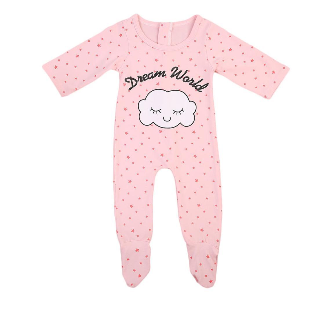 1b8eff4a06d1 2019 Dream World Babies Little Stars Printing Footy Newborn Baby ...